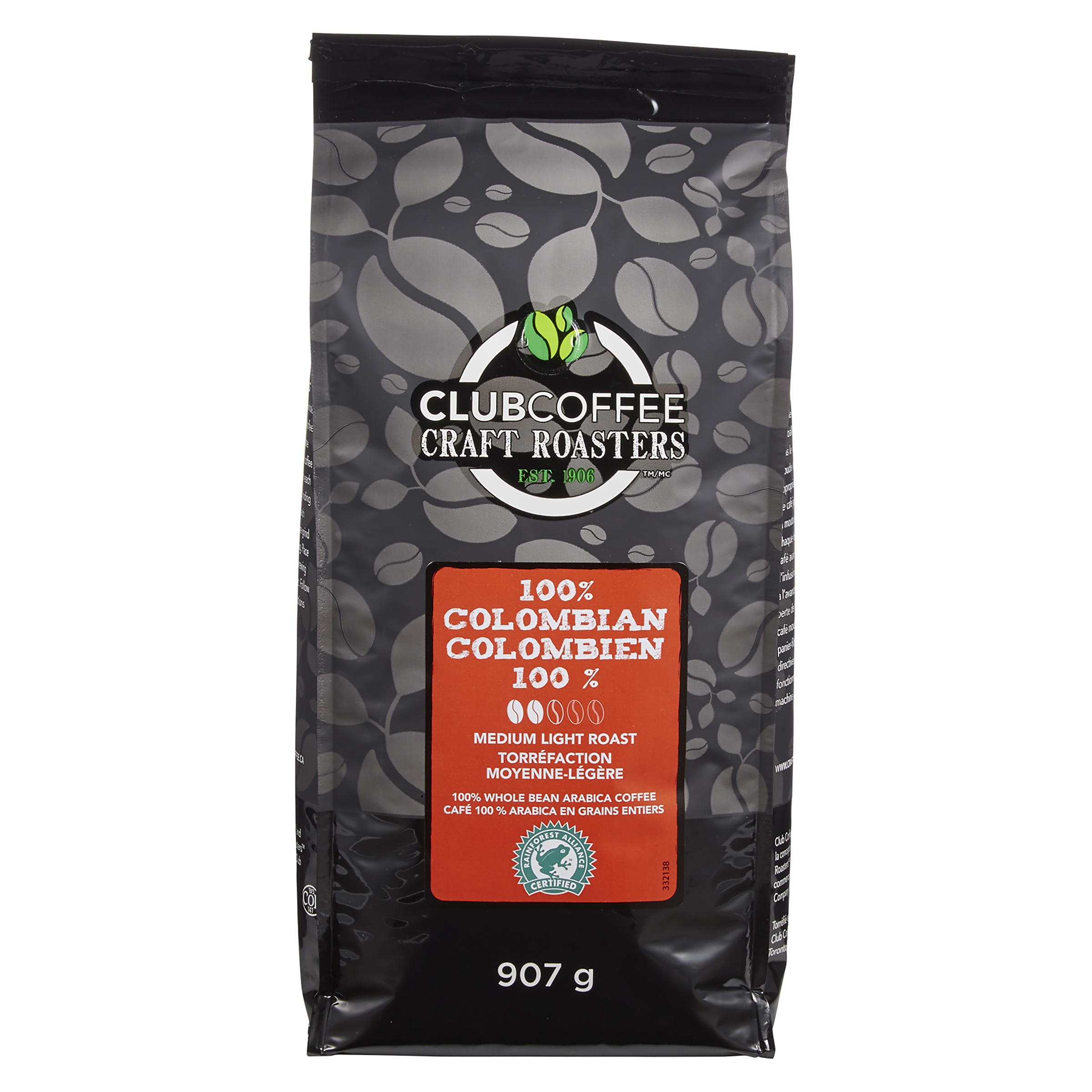 Craft Roasters 100% Colombian Medium Light Roast Whole Bean Coffee