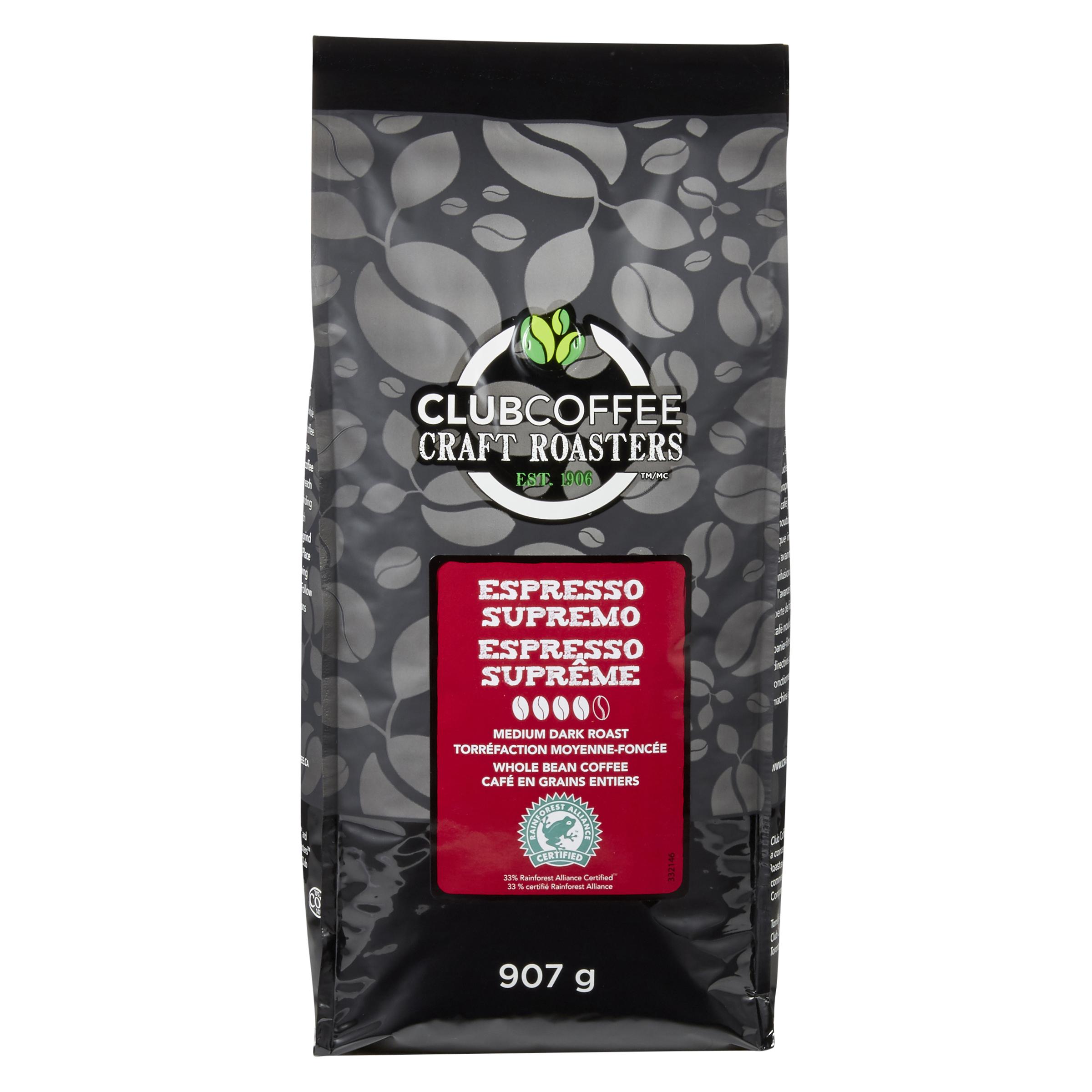 Craft Roasters Whole Bean Espresso Supremo Blend Medium Dark Roast