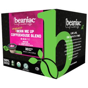 Beaniac bean me up medium roast coffee pods case